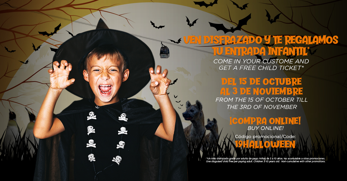 Have a scary Halloween at Benalmádena Cablecar, Selwo Marina and Selwo Aventura